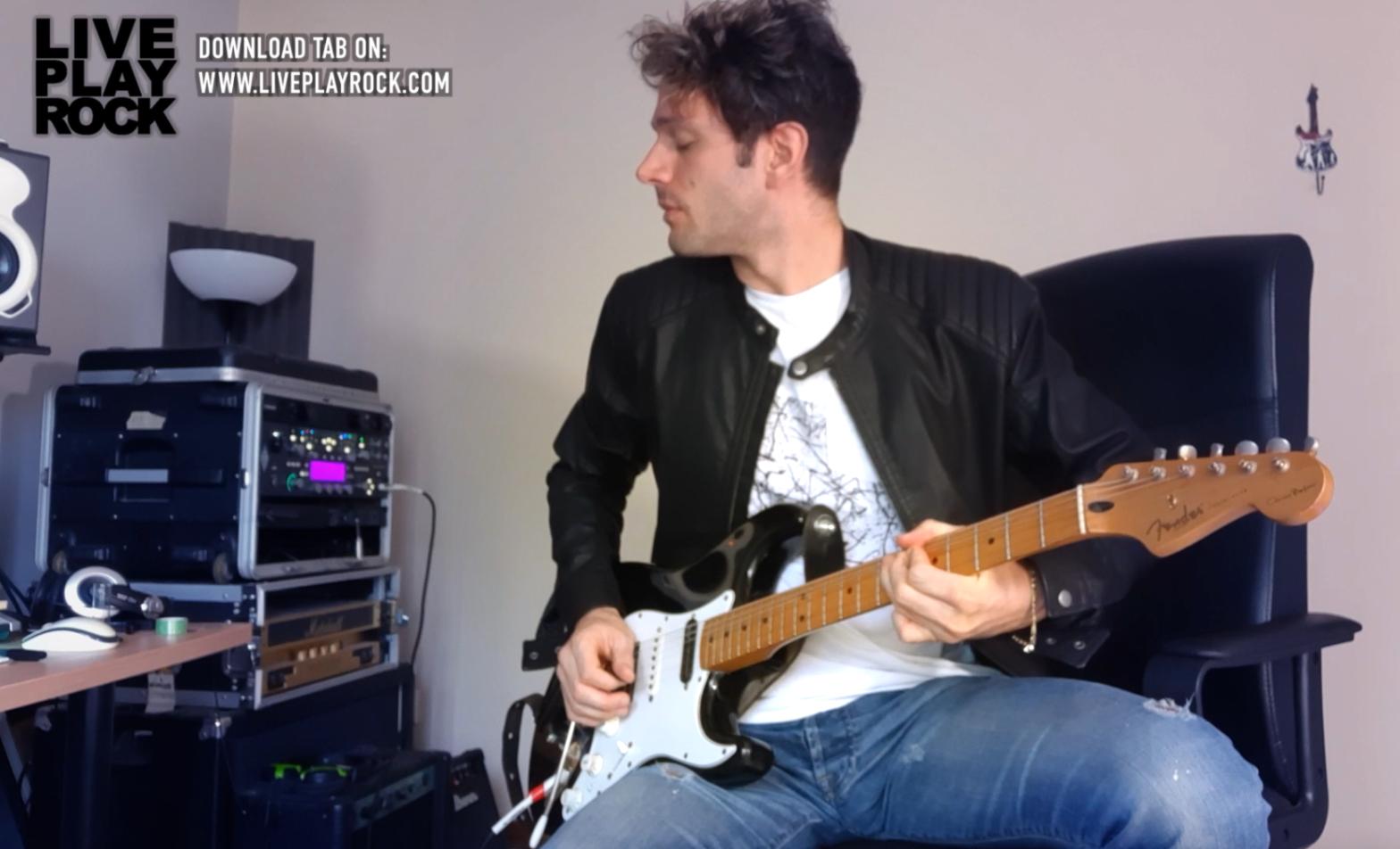 assolo chitarra thomas bottaini soul in do maggiore guitar tab